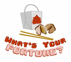 Your Fortune embroidery design