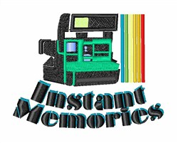 Instant Memories embroidery design