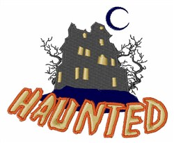 Haunted embroidery design