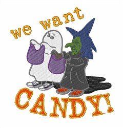 We Want Candy embroidery design