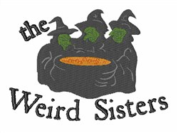 Weird Sisters embroidery design
