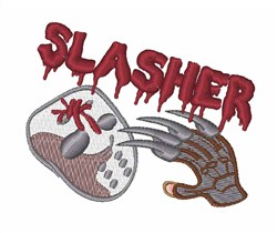 Slasher embroidery design