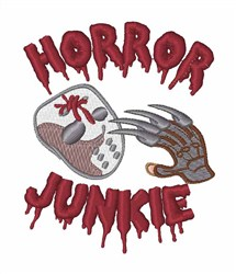 Horror Junkie embroidery design