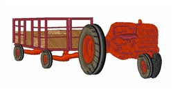 Hay Ride embroidery design