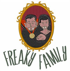 Freaky Family embroidery design