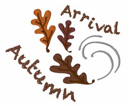 Autumn Arrival embroidery design