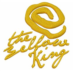 Yellow King embroidery design