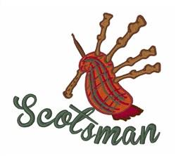 Scotsman embroidery design