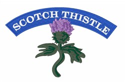 Scotch Thistle embroidery design