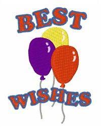 Best Wishes Balloons embroidery design