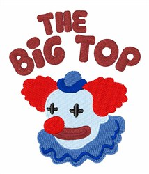 Big Top Clown embroidery design