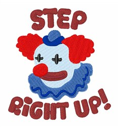 Step Clown embroidery design