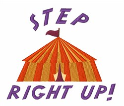 Step Right Up embroidery design