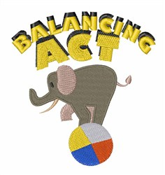 Balancing Act embroidery design