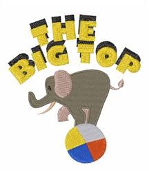Big Top Elephant embroidery design