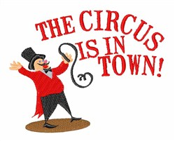 Ringmaster Town embroidery design