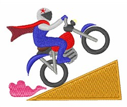 Motorcycle Stunt embroidery design