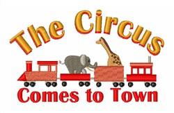 Circus Train embroidery design