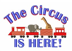 Circus is Here embroidery design