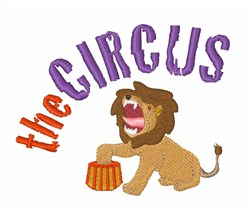 Circus Lion embroidery design