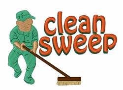 Clean Sweep embroidery design