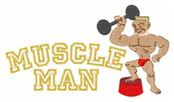 Muscle Man embroidery design