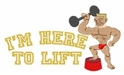 Lift Here embroidery design