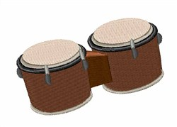 Bongo Drums embroidery design