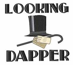 Looking Dapper embroidery design
