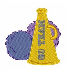 Go Team Horn embroidery design