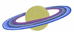 Planet Saturn embroidery design