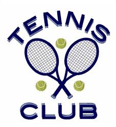 Tennis Club embroidery design