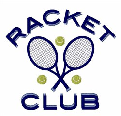 Racket Club embroidery design