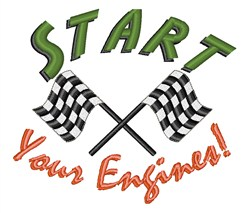 Start Your Engines embroidery design