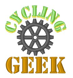 Cycling Geek embroidery design