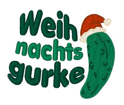 Weihnachtsgurke embroidery design