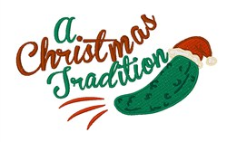 Christmas Tradition embroidery design