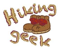 Hiking Geek embroidery design
