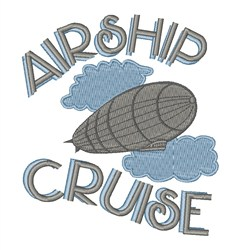 Airship Cruise embroidery design