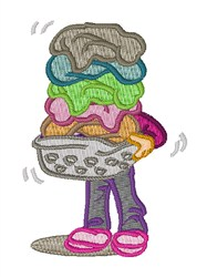 Laundry Pile embroidery design
