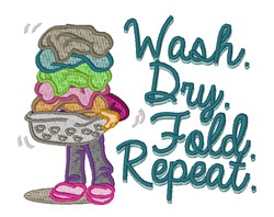 Laundry Wash embroidery design