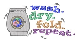 Washing Repeat embroidery design