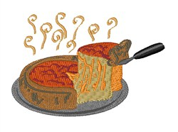 Deep Dish Pizza embroidery design