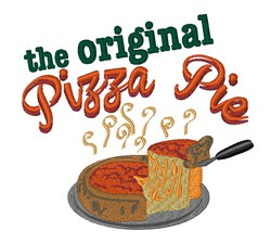 Original Pizza Pie embroidery design