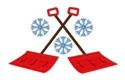 Snowflake Shovels embroidery design
