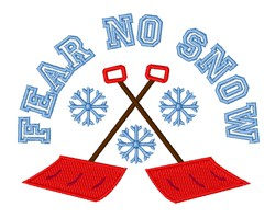 Fear No Snow embroidery design