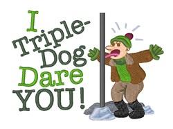 Triple Dog Dare embroidery design