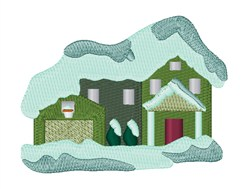 Snow House embroidery design