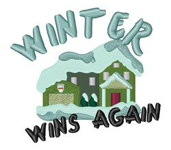 Winter Wins embroidery design