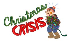 Christmas Crisis embroidery design